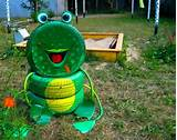 Tire recycling ideas creative diy tire frog playground kid idea green ...
