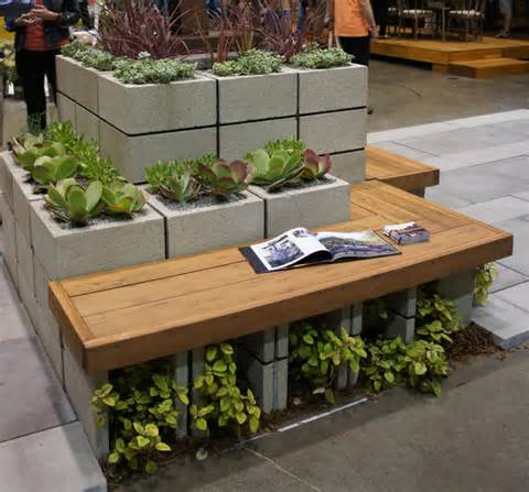 easy diy furniture ideas with upcycled cinder blocks and bricks