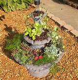 garden in fountain or stacked pots garden pinterest