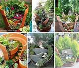 Miniature garden in broken flower pots | Craft Ideas | Pinterest