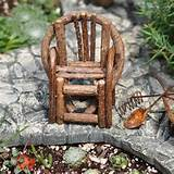 ... Twig Chair for your Fairy Garden or Gnome Vilage - 2.75x3.75 inches