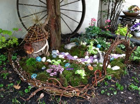outdoor fairy garden go wild
