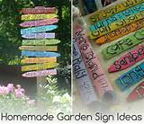 homemade garden sign ideas