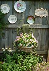 ... fence in your garden. Vintage plates can look really cute out here
