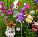 whimsical garen decor made with pots craft ideas pinterest