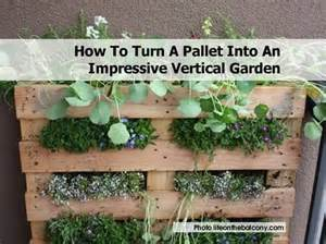 check out this cool vertical garden made from a wooden pallet this