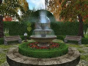garden fountain ideas free | Home Designs Wallpapers
