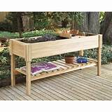 cedar creek cedar wood raised planter box potting benches at