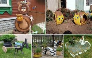 how to diy old tire garden ideas recycled backyard cool