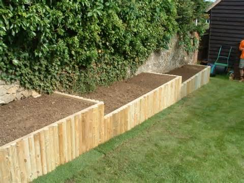 Wood Flower Bed Borders