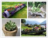 how to make a beautiful diy log garden planter step by step tutorial