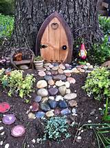 garden fairy or gnome village outside stuff pinterest