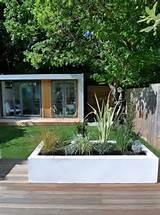 garden design decking planting artificial lawn grass hardwood privacy