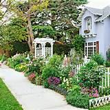 Front Yard Sidewalk-Garden Ideas: Grow a Cutting Garden. Even though ...