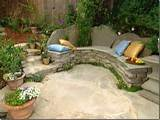 diy built in benches rustic wooden stone garden benches feature