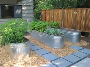 troughs are a great option for raised beds gardening in raised beds