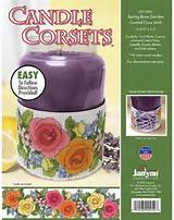 ... Candle Corsets Spring Rose Garden - Plastic Canvas Kit - 123Stitch.com