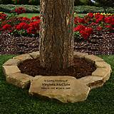 large tree memorial garden stone personalized gifts