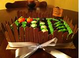 Vegetable garden cake | party ideas - kids | Pinterest