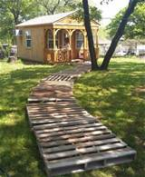 wooden pallet walkway a junk with better utilization pallet