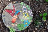 diy or buy how to make a garden mosaic stepping stone or where to buy