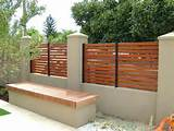 ... Fence Ideas, Google Search, Outdoor, Brick Fence Ideas, Slat Fence