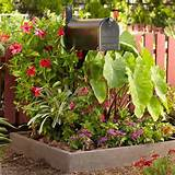 mailbox garden ideas- raised bed mailbox garden