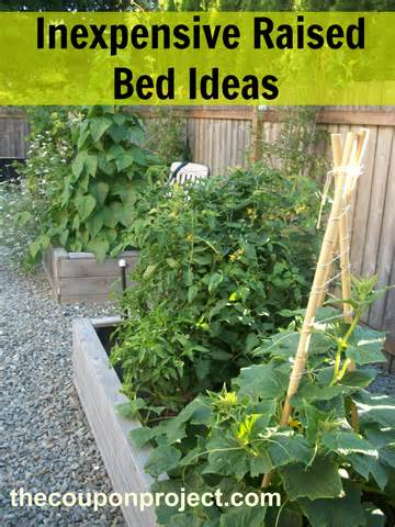 How to make inexpensive raised beds – four different ideas!
