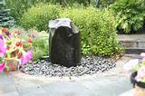 love natural boulder fountains garden inspirations ideas pinter
