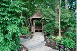 ideas with foliage garden path gazebo gravel hidden hut leaves path