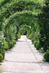 Arbor Covered Gravel Garden Path
