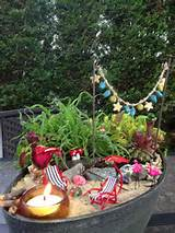 Beach fairy garden | Fairy Garden Ideas | Pinterest