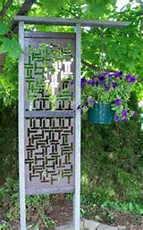 Unique Garden Trellis | Courtyard ideas | Pinterest