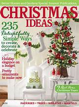 "... Homes and Gardens ""Christmas Ideas"". 