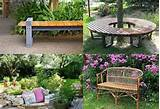 metal stone and wood garden bench design ideas