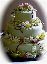 Evolution of a Party...: Garden Flower Wedding Cake