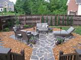 rock walkways and patios are durable and easy to maintain plus