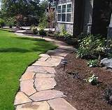 Brick landscape ideas | DRG fLagstone, slate, stone and brick walkway ...