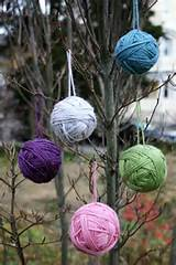 simply hang the yarn bundles in your craft room on the branches and