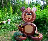 ... bear made by tires how to reuse tires garden cute outdoor decoration