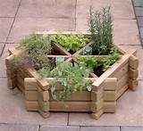 interlocking wooden herb planter