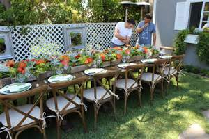 garden party table seating ideas