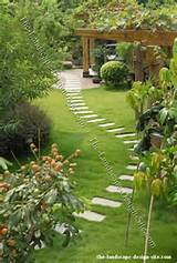 lawn path of large stepping stones