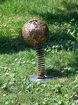 My penny ball! Yard Art | Unique garden ideas | Pinterest
