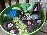 fairy garden in a planter outdoors pinterest