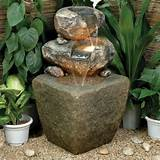 outdoor rock water fountains awesome outdoor water fountains