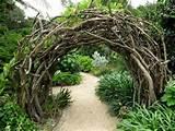 rustic garden portal