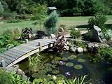 colores para decorar puentecitos sobre estanques para jardin