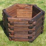 hexagonal design wooden garden planters these garden planters are hand
