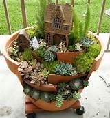 www.pinterest.com, Garden Ideas, Alex R, Awesome clay pot mini garden ...